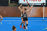 Charlotte Stapenhorst of Germany (12) scores a goal (3-1) and celebrates with team mates during the Vitality Hockey Women's World Cup 2018 Pool C match between Germany and Argentina at the Lee Valley Hockey and Tennis Centre, QE Olympic Park, United Kingdom on 25 July 2018. Picture by Martin Cole.