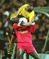 Fotball: UEFA Champions League 2001/2002. v.l. Emile HESKEY , Jürgen KOHLER Dortmund<br />   Champions League  Borussia Dortmund - FC Liverpool 0:0