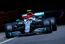 May 25, 2019 - Montecarlo, Monaco - Valtteri Bottas of Finland and Mercedes AMG Petronas driver goes during the qualification session at Formula 1 Grand Prix de Monaco on May 25, 2019 in Monte Carlo, Monaco. (Credit Image: © Robert Szaniszlo/NurPhoto via ZUMA Press)