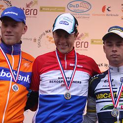 Sportfoto archief 2012<br /> Nederlands Kampioenschap Kerkrade Elite podium met kampioen Niki Terpstra, 2e Lars Boom en 3e Bert Jan Lindeman