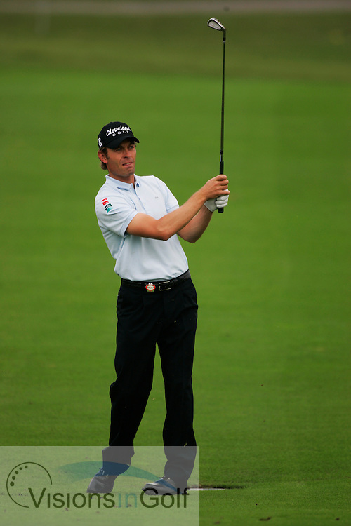 Raphael Jacquelin<br />13th November 2005 on the final day, Sheshan International GC, Shanghai, China in the HSBC Champions <br />Tournament. <br />Mandatory Photo Credit: Mark Newcombe / visionsingolf.com