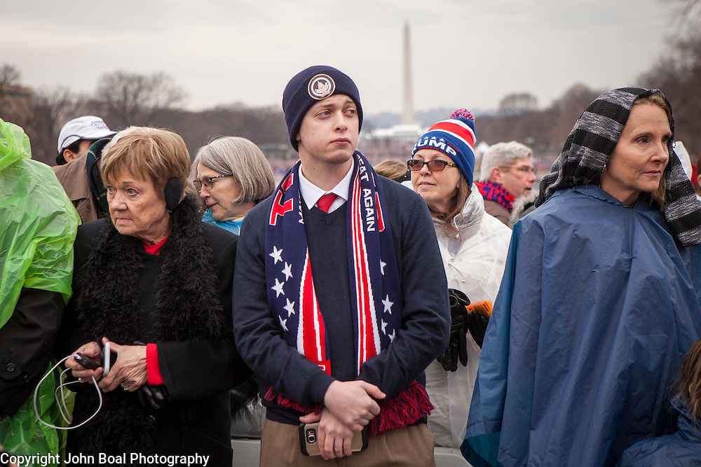 """Kyle Knight traveled from LaGrande, OR to witness the Inauguration of Donald Trump as the 45th President of the United States, January 20, 2017.  He hopes for """"...a functioning administration...it's been a long 8 years..."""".  John Boal Photography"""