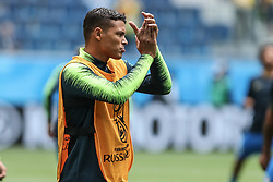 June 22, 2018 - Sao Petesburgo, Vazio, Russia - Thiago Silva of Brasil during a match between Brazil and Costa Rica for the second round of group E of the 2018 World Cup, held at Saint Petersburg Stadium, St. Petersburg, Russia. Game ended scoreless. (Credit Image: © Thiago Bernardes/Pacific Press via ZUMA Wire)
