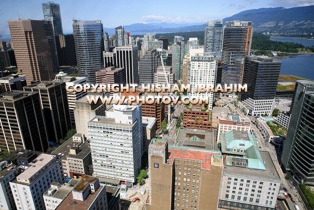 Aerial view of downtown Vancouver, Canada
