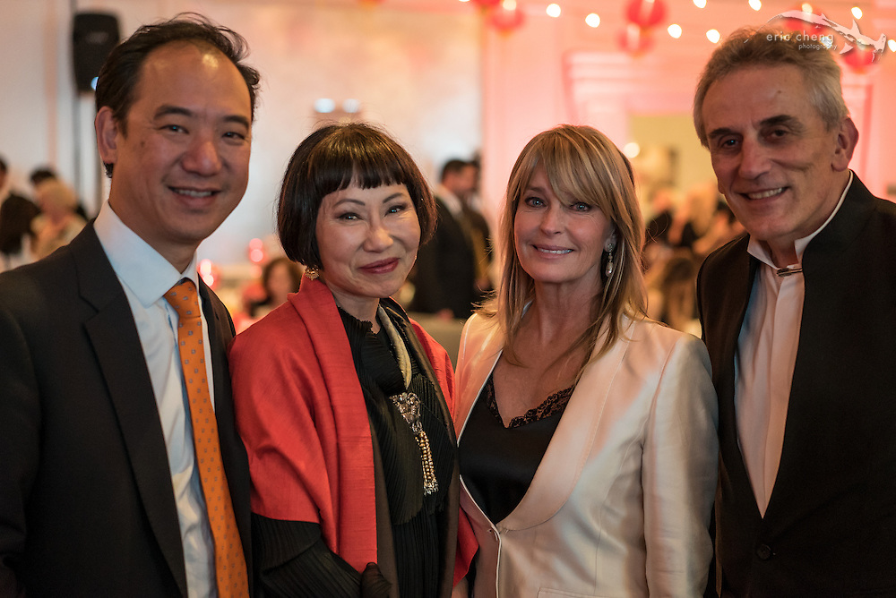 Yat-Pang Au, Amy Tan, Bo Derek, Lou DeMattei; WildAid Gala, November 15, 2014