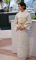 Actress Jun Yoshinaga at the photo call for the film Still The Water (Futatsume No Mado), at the 67th Cannes Film Festival, Tuesday 20th May 2014, Cannes, France.