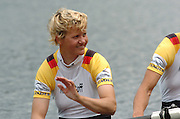 2004 FISA World Cup Regatta Lucerne Switzerland. 20.06.04. Photo Peter Spurrier.Sunday finals Day.GER W2X, 2004 FISA World Cup Regatta Lucerne Switzerland. 20.06.04. Photo Peter Spurrier.Sunday finals Day.GER W2X, Kerstin EL QALQILI - KOWALSKI. Rowing Course, Lake Rottsee, Lucerne, SWITZERLAND. [Mandatory Credit: Peter Spurrier: Intersport Images] Rowing Course, Lake Rottsee, Lucerne, SWITZERLAND. [Mandatory Credit: Peter Spurrier: Intersport Images]
