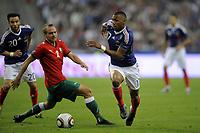 Fotball<br /> Frankrike<br /> Foto: Dppi/Digitalsport<br /> NORWAY ONLY<br /> <br /> FOOTBALL - UEFA EURO 2012 - QUALIFYING - GROUP D - FRANKRIKE v HVITERUSSLAND - 3/09/2010<br /> <br /> YANN M'VILA (FRA) / ALEKSANDR KULCHY (BIE)