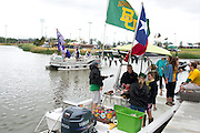 "Fans ""sailgate"" before the Baylor v. TCU game at McLane Stadium in Waco, Texas on October 11, 2014. (Cooper Neill for The New York Times)"
