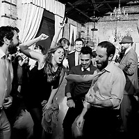 The dance floor during a wedding at the Green Building in Brooklyn, New York.