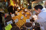 "Istanbul. At the Egyptian Bazar (""Spice Bazar""). Olives."