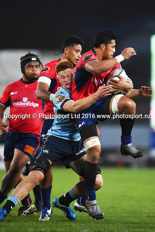 Tasman player Pete Samu during the the Mitre 10 Cup match Tasman v Northland at Trafalgar Park, Nelson, New Zealand. Friday 16 September 2016. ©Copyright Photo: Chris Symes / www.photosport.nz