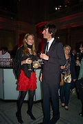 CAMILLA VON STAUFFENBERG AND RICCARDO ROSSI, Opening of Blood on Paper: the art of the Book. V & A. Museum. London. 14 April 2008. Afterwards there was a dinner hosted by Lady Foster.  *** Local Caption *** -DO NOT ARCHIVE-© Copyright Photograph by Dafydd Jones. 248 Clapham Rd. London SW9 0PZ. Tel 0207 820 0771. www.dafjones.com.