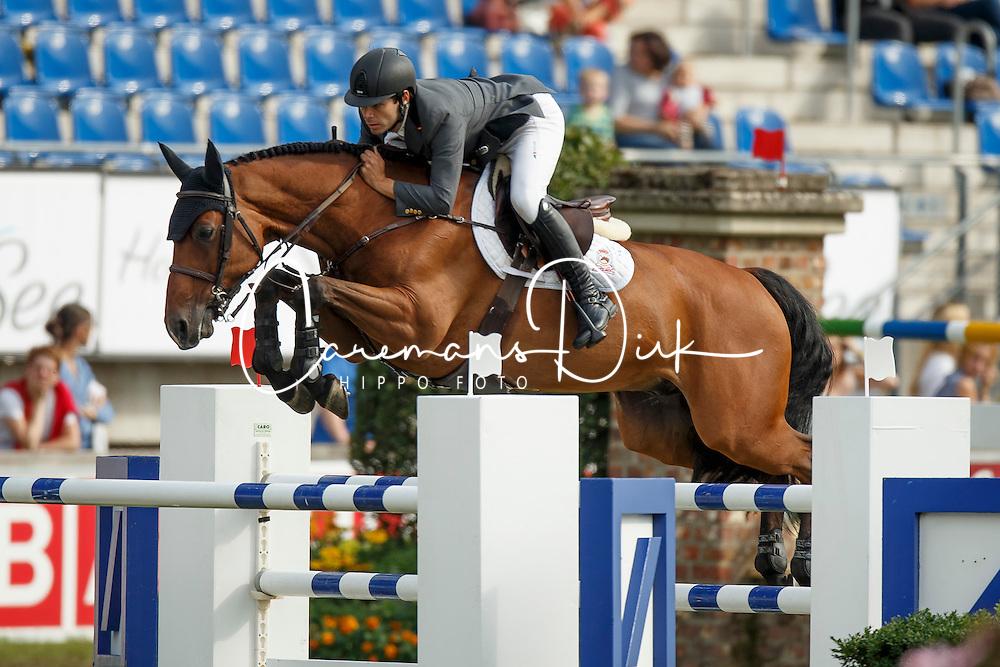 Alvarez Aznar Eduardo, (ESP), Rokfeller de Pleville Bois Margot<br /> Team and 1th individual qualifier <br /> FEI European Championships - Aachen 2015<br /> © Hippo Foto - Dirk Caremans<br /> 19/08/15