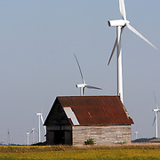 Power generating wind farms near Dwight, Route 66 in central Illinois<br />