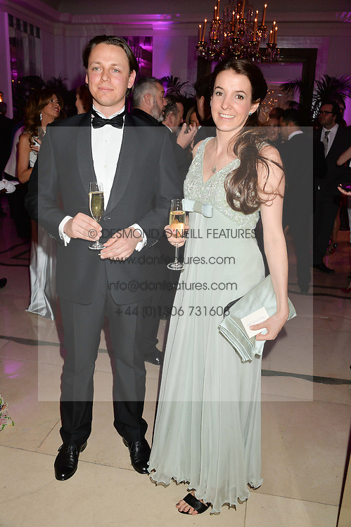 HANNS KENDEL and PRINCESS TESSY OF LUXEMBOURG at the QBF Spring Gala in aid of the Red Cross War Memorial Children's Hospital hosted by Heather Kerzner and Jeanette Calliva at Claridge's, Brook Street, London on 12th May 2015.