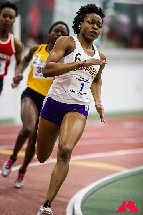 ECAC Indoor Champs, womens 400 heat 1 Ajala, Aderinsola         JR Albany