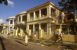 Picturesque houses in Vedado; a residential district of Havana; Cuba,