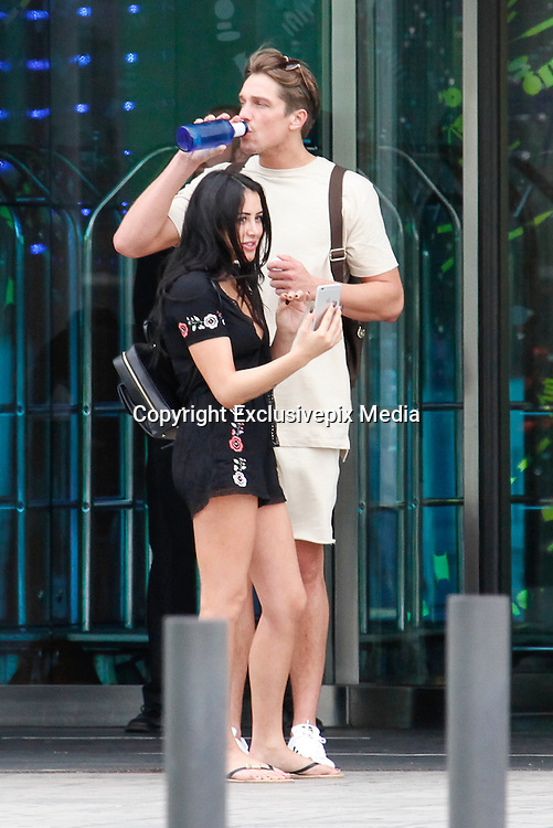 EXCLUSIVE<br /> looks like Marine Simpson and Lewis Bloor romance is hotting up as they take a Romantic break in Barcelona <br /> &copy;Exclusivepix Media