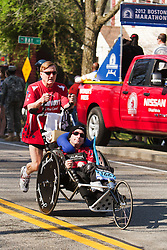 Dick and Rick Hoyt, father and son, start another Boston Marathon for Team Hoyt