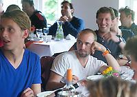BLOEMENDAAL - Matthew Swann  (Swannie) .  Oud internationals Eby Kessing, Ronald Brouwer en Nick Meijer, alle spelers van Bloemendaal, namen afscheid met een afscheidsdrieluik. COPYRIGHT KOEN SUYK