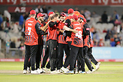 Durham Jets win during the Vitality T20 Blast North Group match between Lancashire Lightning and Durham Jets at the Emirates, Old Trafford, Manchester, United Kingdom on 7 August 2018.