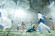 G&Ouml;TEBORG - 2018-02-18: Daleho Irandust i BK H&auml;cken g&ouml;r 1-0 under matchen i Svenska Cupen, grupp 4, mellan BK H&auml;cken och IFK V&auml;rnamo den 18 februari 2018 p&aring; Bravida Arena i G&ouml;teborg, Sverige.<br /> Foto: Anders Ylander/Ombrello<br /> ***BETALBILD***