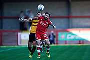 Romain Vincelot of Crawley Town defends the ball during the EFL Sky Bet League 2 match between Crawley Town and Newport County at the Broadfield Stadium, Crawley, England on 20 October 2018.