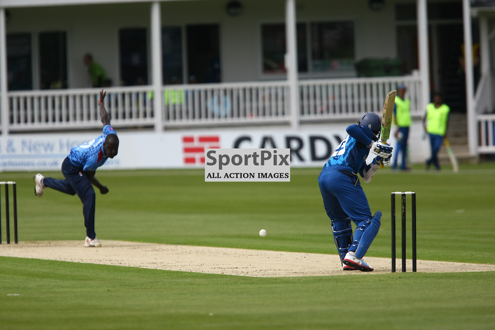 Robbie Joseph bowls to Tillakaratne Dilshan. Sri Lanka play a select Kent County side at The Spitfire Ground, Canterbury. (c) Matt Bristow | SportPix.org.uk