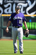SCOTTSDALE, AZ - MARCH 09:  Mark Reynolds #12 of the Colorado Rockies warms up prior to the spring training game against the San Francisco Giants at Scottsdale Stadium on March 9, 2016 in Scottsdale, Arizona.  The Colorado Rockies won 8-6. (Photo by Jennifer Stewart/Getty Images) *** Local Caption *** Mark Reynolds
