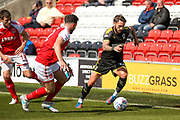 AFC Wimbledon defender Callum Kennedy (23) in action  during the EFL Sky Bet League 1 match between Fleetwood Town and AFC Wimbledon at the Highbury Stadium, Fleetwood, England on 19 August 2017. Photo by Simon Davies.