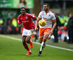 December 23, 2017 - London, United Kingdom - Blackpool's Colin Daniel.during Sky Bet  League One match between Charlton Athletic  against Blackpool at The Valley Stadium London on 23 Dec  2017  (Credit Image: © Kieran Galvin/NurPhoto via ZUMA Press)
