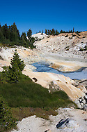 Milk blue mineral water amonst natural geysers and hot spings, Lassen National Park