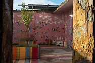 Roma, 02/12/2014: Il Metropoliz &egrave; una fabbrica dismessa nel quartiere di Tor Sapienza. A Metropoliz coabitano circa duecento persone provenienti da diverse regioni del mondo e ospita il MAAM , museo dell'altro e dell'altrove di Metropoliz. La fabbrica &egrave; stata occupata nel marzo del 2009 dai Blocchi Precari Metropolitani in collaborazione con Popica Onlus che si occupa della scolarizzazione dei bambini rom - <br /> The Metropoliz is a disused factory in the district of Tor Sapienza. In Metropoliz live about two hundred people from different regions of the world and is home to the MAAM.