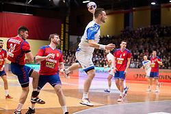 Gasper Marguc of Slovenia during Handball friendly match before EURO 2018 between Slovenia and Serbia, on January 10, 2018 in Rdeca dvorana, Velenje, Slovenia. Photo by Urban Urbanc / Sportida