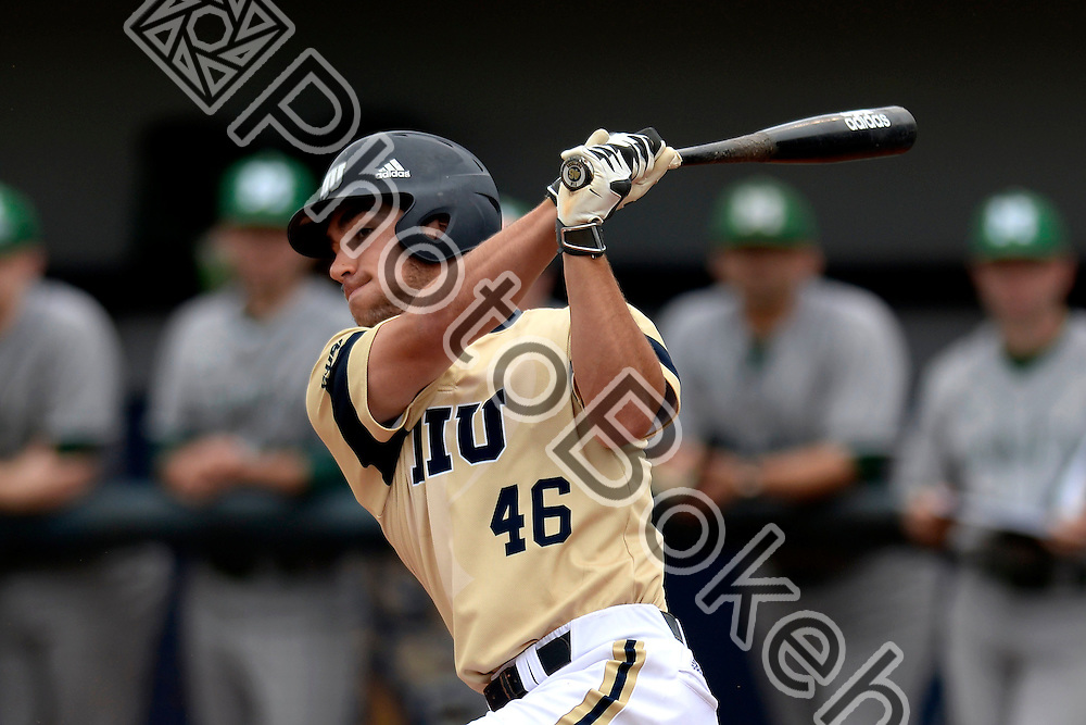 2015 February 28 - FIU's Brian Portelli (46). <br /> Florida International University defeated Manhattan, 17-0, at FIU Baseball Stadium, Miami, Florida. (Photo by: Alex J. Hernandez / photobokeh.com) This image is copyright by PhotoBokeh.com and may not be reproduced or retransmitted without express written consent of PhotoBokeh.com. &copy;2015 PhotoBokeh.com - All Rights Reserved