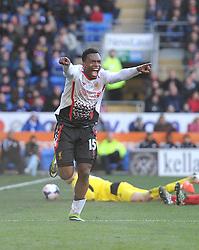 Liverpool's Daniel Sturridge celebrates his goal.- Photo mandatory by-line: Alex James/JMP - Mobile: 07966 386802 22/03/2014 - SPORT - FOOTBALL - Cardiff - Cardiff City Stadium - Cardiff City v Liverpool - Barclays Premier League