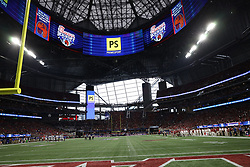 Signage during the Chick-fil-A Kickoff Game at the Mercedes-Benz Stadium, Saturday, August 31, 2019, in Atlanta. Alabama won 42-3. (Brad Budd via Abell Images for Chick-fil-A Kickoff)
