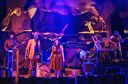 [Enter Caption]Award-winning composer and Lau's visionary accordionist Martin Green brings together Portishead's Adrian Utley, Mogwai's Dominic Aitchison, Becky Unthank from The Unthanks and Edinburgh-born folk singer-songwriter Adam Holmes, with BAFTA-winning animators whiterobot (Will Anderson and Ainslie Henderson) for this extraordinary new show.<br /> <br /> Flit is inspired by first-hand stories of human migration, some heart-warming, others heartbreaking, and features songs and original music by Green with lyrics from Karine Polwart, Anaïs Mitchell, Sandy Wright and Aidan Moffat. Set within a captivating animated world, these exquisite songs are performed live by a world class band fronted by the inimitable voices of Becky Unthank and Adam Holmes.