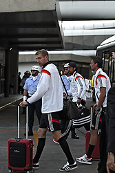 14.07.2014, Galeao Airport, Rio de Janeiro, BRA, FIFA WM, Weltmeister Deutschland, Heimreise, Finale, im Bild Per Mertesacker (GER) steigt aus dem Bus // during the Return of the German Team after FIFA Worldcup Brazil 2014 at the Galeao Airport in Rio de Janeiro, Brazil on 2014/07/14. EXPA Pictures © 2014, PhotoCredit: EXPA/ Eibner-Pressefoto/ Cezaro<br /> <br /> *****ATTENTION - OUT of GER*****
