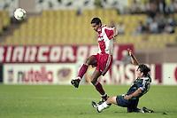David Trezeguet - 01.10.1997 - Monaco / Leverkusen - Ligue des Champions<br />Photo : Eric Renard / Icon Sport