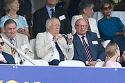 Sir Tim Rice watching from the Grandstand during the ICC Cricket World Cup 2019 Final match between New Zealand and England at Lord's Cricket Ground, St John's Wood, United Kingdom on 14 July 2019.