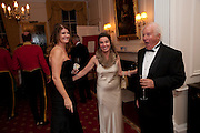 ALEXA JAGO;DANIELLA PAGET; RAPHAEL JAGO, Charity Dinner in aid of Caring for Courage The Royal Scots Dragoon Guards Afganistan Welfare Appeal. In the presence of the Duke of Kent. The Royal Hospital, Chaelsea. London. 20 October 2011. <br /> <br />  , -DO NOT ARCHIVE-© Copyright Photograph by Dafydd Jones. 248 Clapham Rd. London SW9 0PZ. Tel 0207 820 0771. www.dafjones.com.