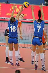 28-09-2017 AZE: CEV European Championship Italie - Nederland, Baku<br /> Nederland wint met 3-0 van Italie en staat in de halve finale / Lonneke Sloetjes #10 of Netherlands