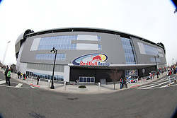 Mar 16, 2013; Harrison, NJ, USA; Atmosphere outside the arena before the game between the DC United and the New York Red Bulls at Red Bull Arena.