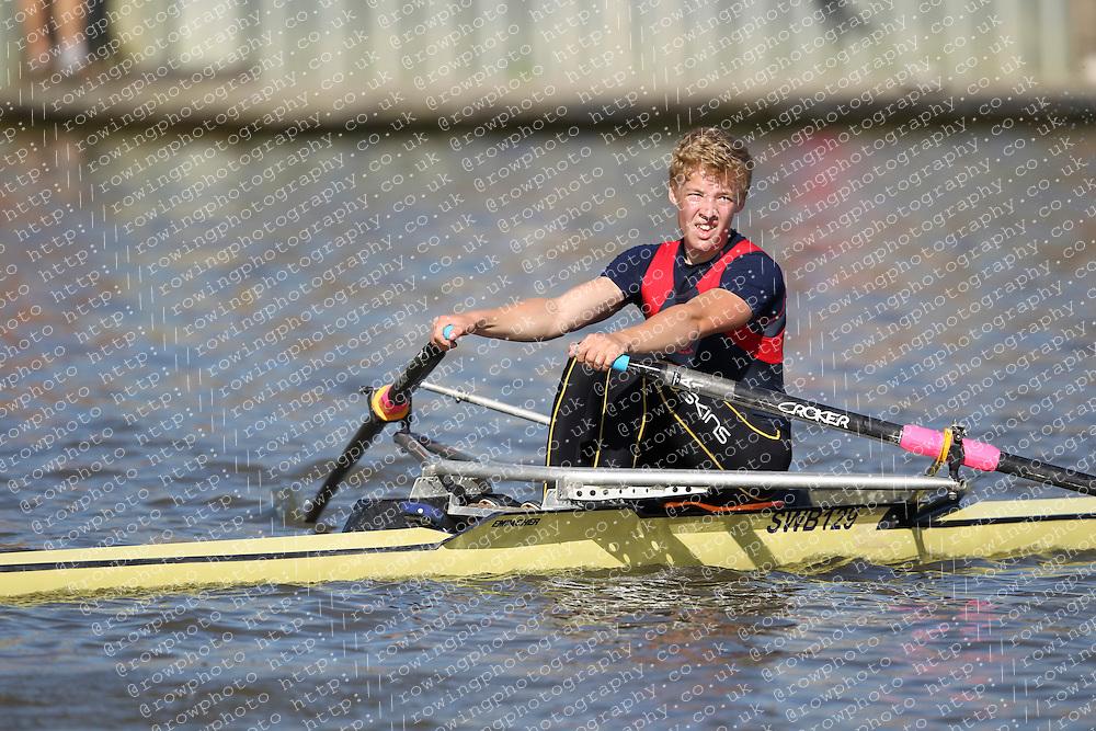 29.09.2012. Wallingford Long Distance Sculls 2012, The River Thames. Division 1. J17A 1x. Sir William Borlase Grammar School Boat Club.
