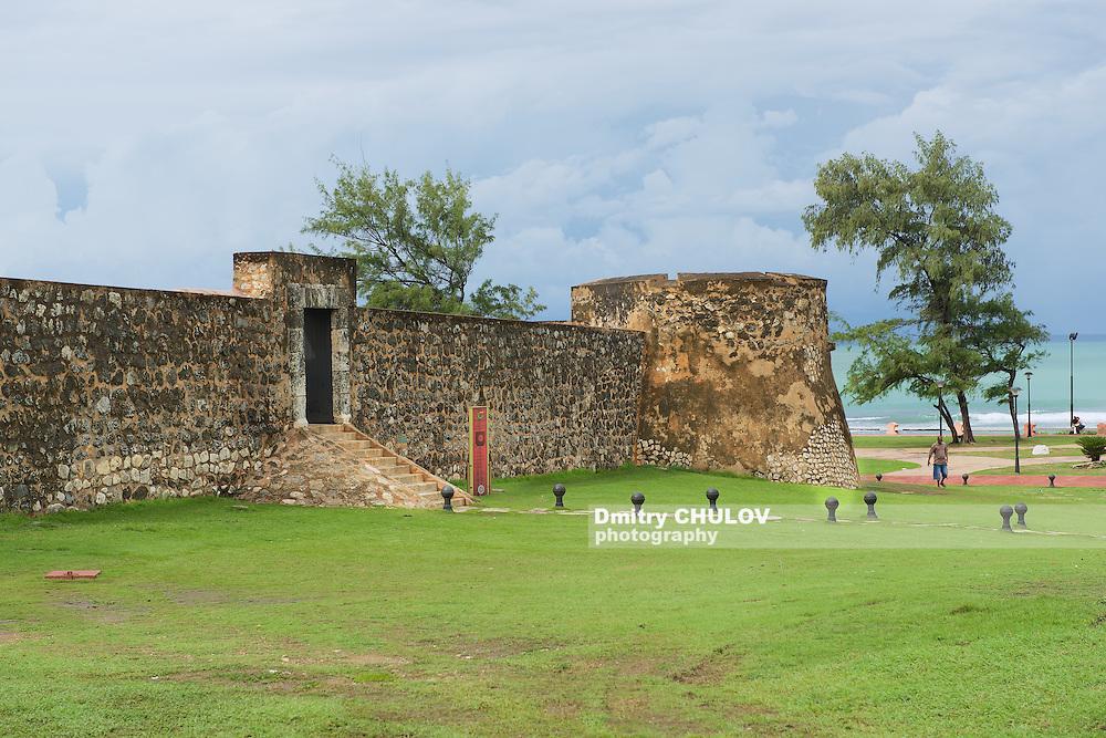 PUERTO PLATA, DOMINICAN REPUBLIC - NOVEMBER 04, 2012: Exterior of the San Felipe Fort in Puerto Plata, Dominican Republic.