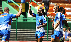 Cape Town-180217 Stomers players Wilco Low and Seabelo Senatla warming up before their Super 15 rugby game against Jaguares.photograph:Phando Jikelo/African News Agency/ANA