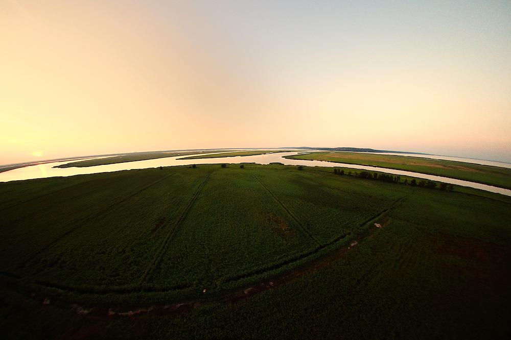 Delta lands near Swinousczje, Poland