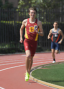 Mar 18, 2017; Los Angeles, CA, USA; Mitchell Cameron of Southern California runs in the 1,500m during the Trojan Invitational at Cromwell Field.